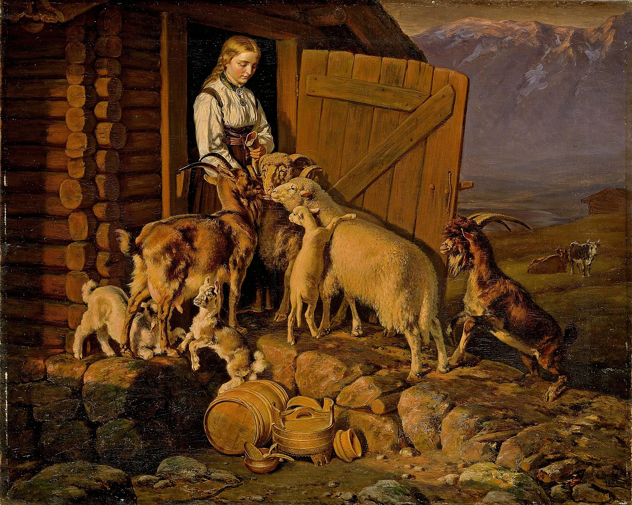 Зигвальд Даль - Животным дают соль - NG.M.00721 - Национальный музей искусства, архитектуры и дизайна.jpg