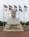 Sign and bust of former U.S. General and President Dwight D. Eisenhower located in Denison, Texas LCCN2015631182.tif