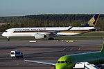 Singapore Airlines A350-941 (9V-SMD) taxiing at Domodedovo International Airport.jpg