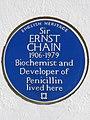 Sir ERNST CHAIN 1906-1979 Biochemist and Developer of Penicillin lived here (23248826579).jpg