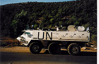 Fardis, Lebanon - Sisu XA-180, part of  UNIFIL, in Fardis, 1998