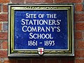 Site of the Stationers' Company's School 1861 - 1893.jpg