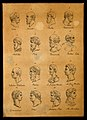 Sixteen portraits of classical poets and thinkers. Drawing, Wellcome V0009100.jpg