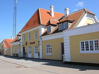 Skagen station - Platform facade of Skagen Station