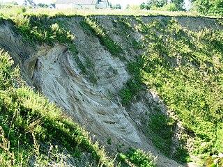 Река Анчя. Обрыв около г. Скаудвиле