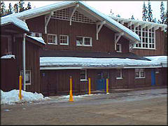 The historic Badger Pass Ski Lodge