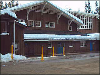 Badger Pass Ski Area - Image: Ski lodge Badger
