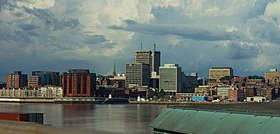 Skyline of Moncton in 2015 (cropped).jpg