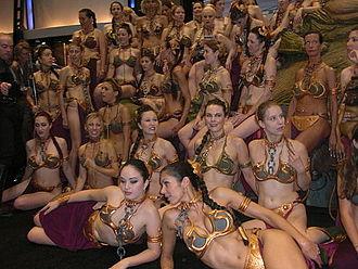 Princess Leia's bikini - Star Wars Celebration, 2010