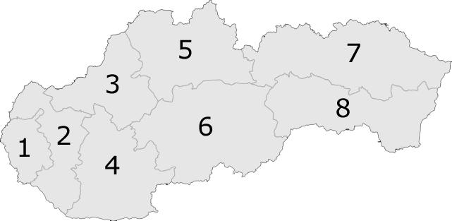 Slovakiakrajenumbers