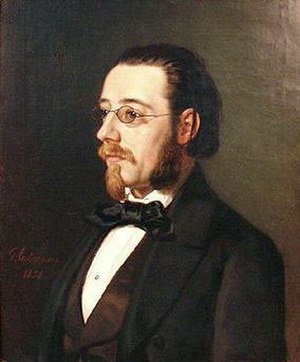 Bedřich Smetana - An oil portrait of Smetana, 1854, by Geskel Saloman