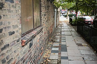 Carl Street Studios - Image: Sol Kogen and Edgar Miller house Sidewalk in Old Town, Chicago October 2013 5094