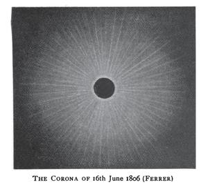 Solar Saros 124 - Image: Solar eclipse 1806Jun 16 Corona Ferrer