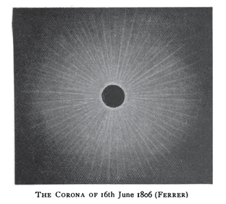 Solar eclipse of June 16, 1806 - Image: Solar eclipse 1806Jun 16 Corona Ferrer