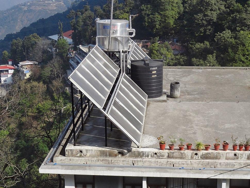 Solar water heater from Mussoorie