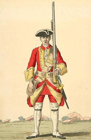 Royal Lincolnshire Regiment - Soldier of 10th regiment, 1742
