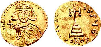 Anastasios II on a solidus