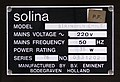 Solina StringEnsemble identification plate.JPG