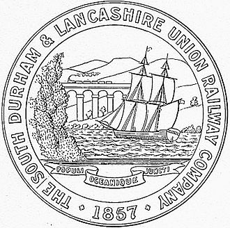 South Durham and Lancashire Union Railway - The seal of the South Durham and Lancashire Union Railway