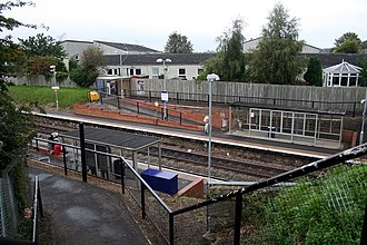 South Gyle railway station - Image: South Gyle railway station in 2011