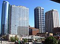 South Loop high-rises from Roosevelt-Wabash CTA station.jpg