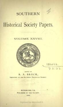 Southern Historical Society Papers volume 28.djvu