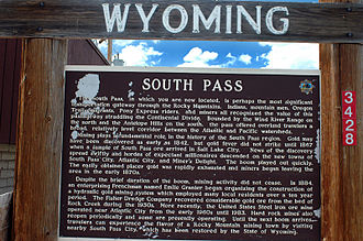 South Pass (Wyoming) - South Pass sign