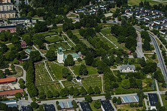 Spånga - Aerial view of the Spånga Church