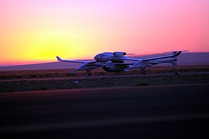 SpaceShipOne Flight 17P - Image: Space Ship One Takeoff photo D Ramey Logan