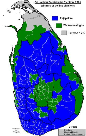Sri Lankan presidential election, 2005 - Image: Sri Lankan Presidential Election 2005