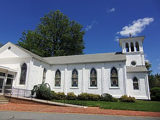 Olney, Maryland - The St. John's Episcopal Church in May 2013.