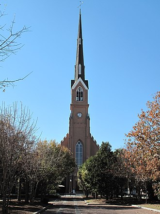 Demographics of South Carolina - St. Matthew's German Evangelical Lutheran Church in Charleston is the tallest house of worship in the state. Its spire rises 255 feet.