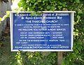 St Agnes' Church, Gate Lane, Freshwater (May 2016) (Signboard).jpg
