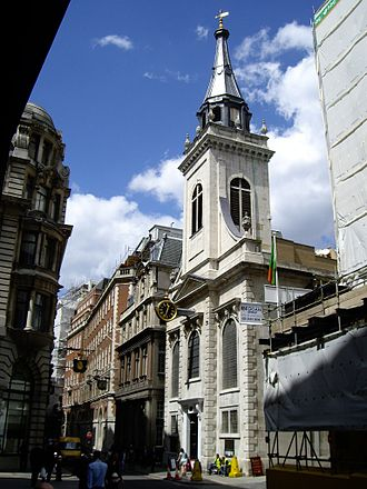 Lombard Street, London - Church of St Edmund, King and Martyr.