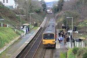St James Park railway station - Image: St James Park FGW 143617 143620 up train