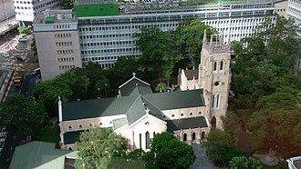 St. John's Cathedral (Hong Kong) - View of the St John's Cathedral from the top