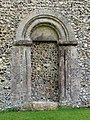 St Mary, Reed, Herts - Blocked doorway - geograph.org.uk - 370492.jpg