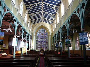 1815 in architecture - St Michael's Church, Aigburth showing cast-iron frame