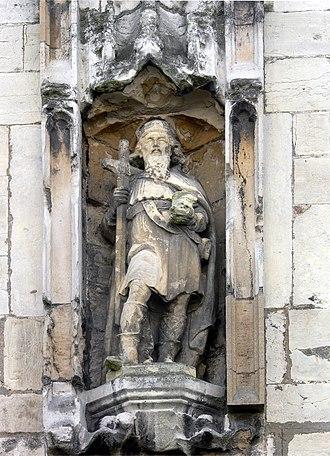 St Olave's Church, York - Statue of St. Olav