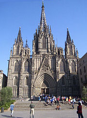 A view of the Barcelona Cathedral