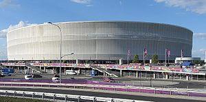 Stadion Miejski (Wrocław) - Stadium exterior during UEFA Euro 2012