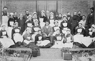 Wellington Hospital, New Zealand - Staff of Wellington Hospital in 1885