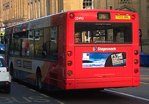 Alexander ALX300 - Stagecoach in Newcastle ALX300 bodied MAN 18.220 rear in Newcastle upon Tyne.