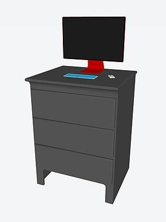 Standing desk - Standing dresser desk