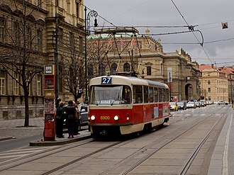 Tram - Tatra T3  The highest-selling type of tram worldwide.