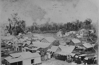 Andrew Leon - Chinatown in Cairns, 1886