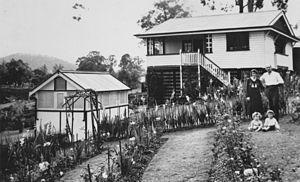 Backyard - A back yard in Brisbane, Queensland, Australia in 1929