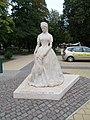 Statue of Elisabeth of Austria by Dávid Tóth (2014) in Keszthely, 2016 Hungary.jpg