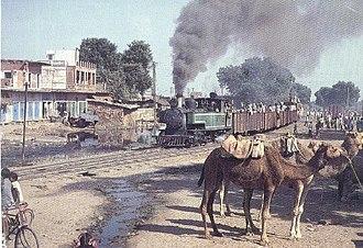 Dholpur–Sarmathura Railway - Steam Engine Narrow Gauge Train