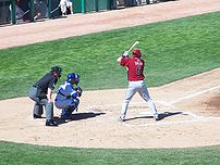 Picture of Stephen Drew at bat during a Spring...